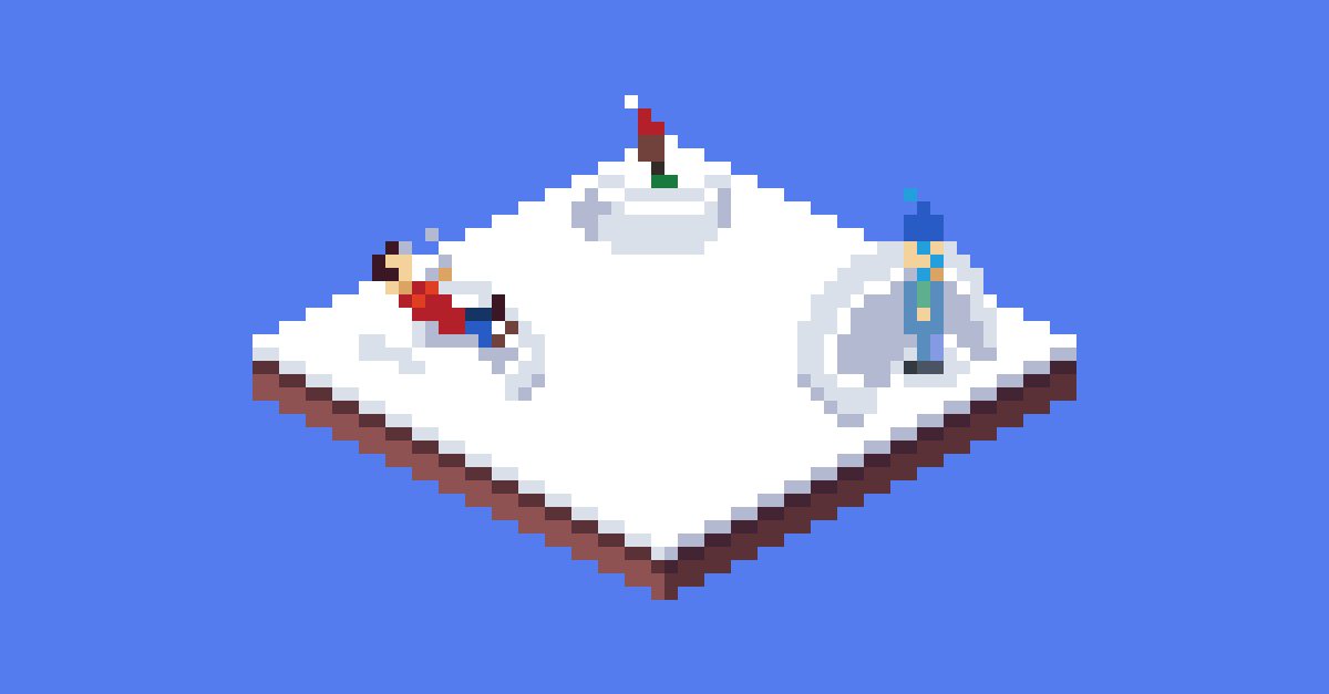 Pixel Art of 2020 Christmas Cube Collab